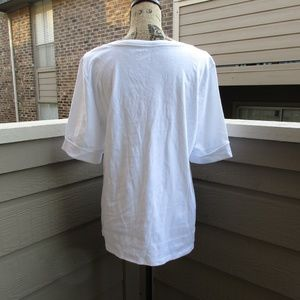 Ellen Tracy Tops - Ellen Tracy split neck top NWT white XL NWOT 1054